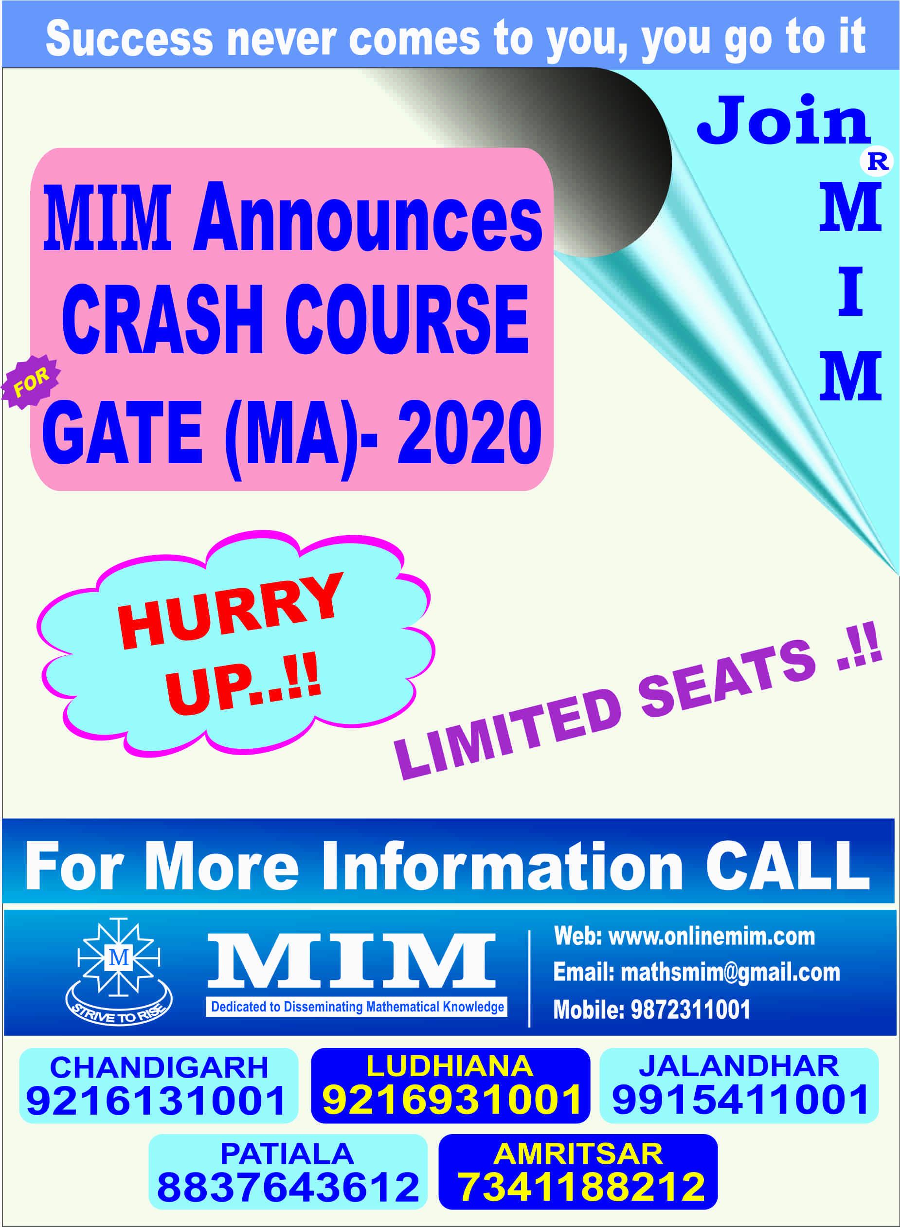 gate-ma crash course 2020
