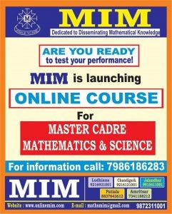 best master cadre maths coaching